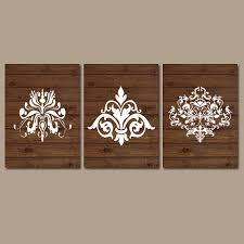damask wall art artwork wood grain from