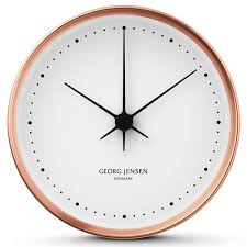 georg jensen hk copper clock designed by henning koppel in 1978 available in diameters