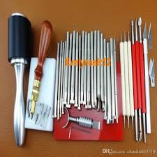 as pictures show leather stamping diy tools set craft tool kit