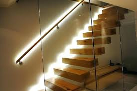 Staircase led lighting Open Stairwell Stair Lighting Led Stairs Design Floating Staircase Architecture With Flexible Strip Lights For Kit Automatic Ligh Led Stairwell Lights Nursiinfo Led Lights For Stairs Kit Stair Uk Youngandfoolish