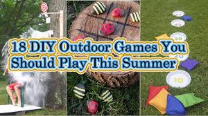 Diy Outdoor Games 18 Diy Outdoor Games You Should Play This Summer Youtube