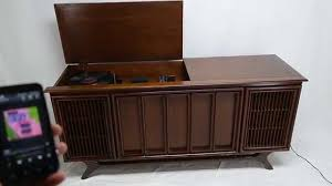 Cabinet Record Player For Sale Mid Century Modern Sylvania Stereo Console Record Player