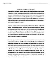 persuasive essay against animal testing