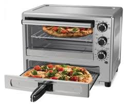 10 oster tssttvpzds convection oven with dedicated pizza drawer of silver color