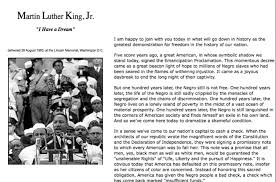 martin luther king speech essay martin luther king jr at com a  kuster you might want to run off a copy of the text and mark the pauses martin luther king essay on his speech i have a dream gcse