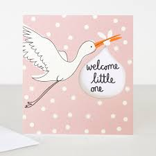 Welcome Little One New Baby Girl Card
