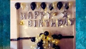 simple birthday balloons decoration
