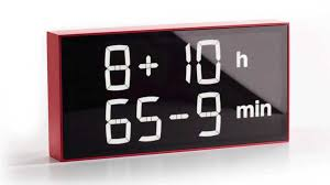 this awesome clock makes you do math to figure out the time
