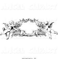 frame clipart angel 5