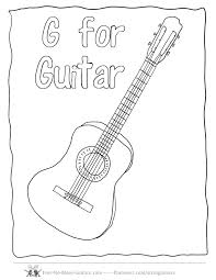 Small Picture 9 best Guitar Coloring Pages images on Pinterest Coloring pages