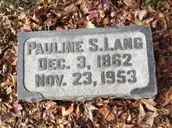"""Pauline S. """"Polly"""" Fischer Lang (1862-1953) - Find A Grave Memorial"""