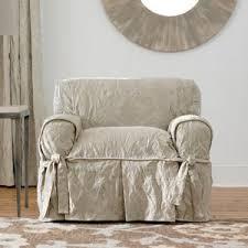 Armchair slipcovers Skirt Sure Fit Matelasse Damask Chair Cover Hayneedle Chair Slipcovers Hayneedle
