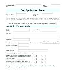 Employee Application Form Word Job Application Form Template Free Job Application Form