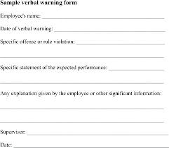 Written Warning Letter Template Employee Verbal Free Best Of