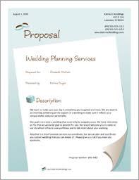 Event Planning Proposal Wedding Planner Services Sample Proposal 5 Steps