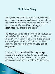 Tell Me About Your Previous Work Experience In Customer Service How To Tell Your Story Interview Well During Your Job Search Ppt