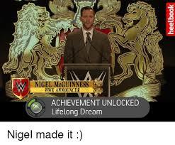 Lifelong Dream Vw Nigel Mcguinness Wwe Announcer Achievement Unlocked