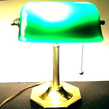 bankers table lamp green desk with shade s vintage glass