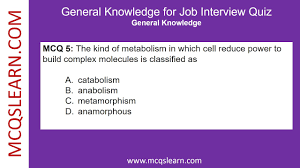 General Knowledge For Job Interview Quiz Mcqslearn Free Videos