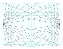 Printable Perspective Grid 2 Point Landscape