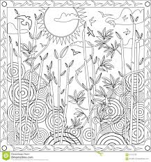 Small Picture Bamboo Coloring Pages Page Book Adults Square Format Japanese