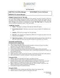 front desk hotel job description creative front desk resume job description in office manager job description