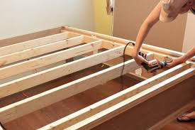 how to make a wood bed frame the