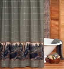 Shower Curtains Cabin Decor Bear Shower Curtain Detail And Functions Design Ideas And Decor