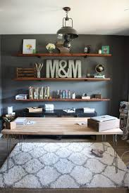 office shelves. install these diy industrial inspired wood shelves in your home office for a functional and rustic look