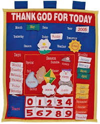Fabric Days Of The Week Chart Fabric Calendar For Teaching Days Of The Week Etc Weather