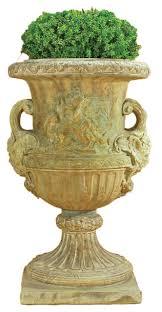 maximus urn cast stone outdoor garden