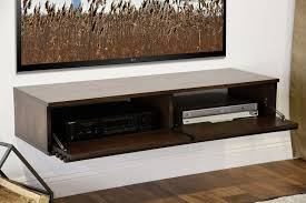 floating tv console  lotus  russet brown  woodwaves