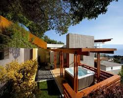outdoor other modern outdoor jacuzzi bathtub temple hills residence in laa beach outdoor shower design