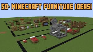 Minecraft Furniture Bedroom 50 Minecraft Furniture Ideas Youtube