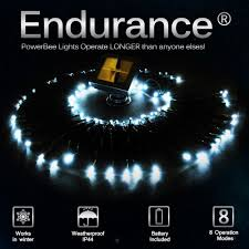100 White Outdoor Led Solar Fairy Lights Solar Fairy Lights 100 White Led Powerbee Endurance