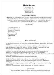 Software Engineer Resume Examples Custom Software Engineer Resume Sample Sample Professional Letter Formats
