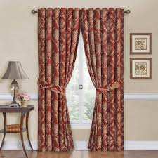 Printed Curtains Living Room Waverly Rose Momento Floral Window Curta Walmartcom