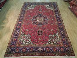 7 10 persian tabriz rug hand knotted area rug wool on
