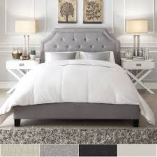 Grace Full-Size Linen Arched Bridge Top Bed by iNSPIRE Q Bold - Free  Shipping Today - Overstock.com - 15617990
