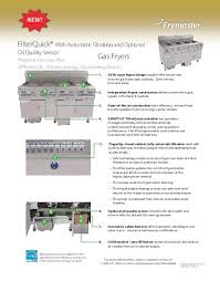 frymaster product filterquick gas fact sheet