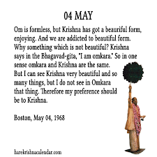 calendar for the month of may srila prabhupada s quotes for 04 may hare krishna calendar