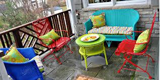 Traditional Porch Design Using Colorful Smith Hawken Teak Outdoor Furniture  Design