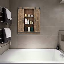 bonnlo 32 h rustic wooden wall mounted