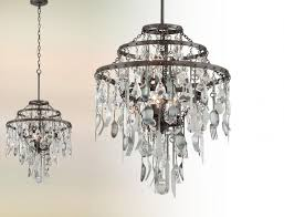 bistro 6 light chandelier in graphite with or without antique pewter flatware