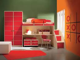 bunk beds kids desks. Amusing Red Kids Bed With Single Bunk And Underbed Study Desk Chair Wardrobe Cabinet For Bedrooms Sets Beds Desks