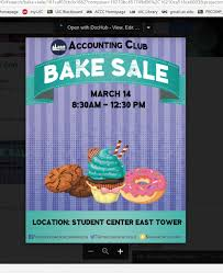 Accounting Club Bake Sale Uic Connection