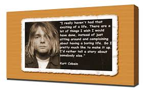 Amazoncom Kurt Cobain Quotes 6 Canvas Art Print Posters Prints
