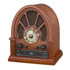 innovative technology vintage wooden bluetooth radio with cd player in mahogany
