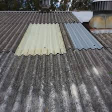 asbestos cement corrugated sheeting is made from a mixture of cement and asbestos fibres as such unless it is painted it looks grey in colour
