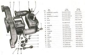 willys jeep parts diagrams illustrations from midwest jeep willys l 134 manifolds
